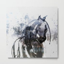 Horse (Freezing) Metal Print