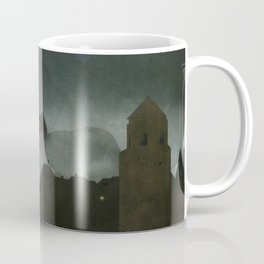 small town with castle Coffee Mug
