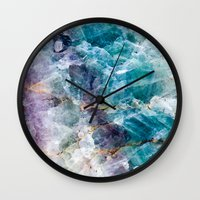 crystals Wall Clocks featuring crystals  by lokyic