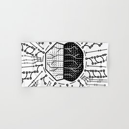 Quantum Computing | White and Black | HODL Collection 2020 Hand & Bath Towel