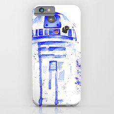 R2-D2 R2D2 droid watercolor Wars Scifi Star FAnart iPhone 6 Slim Case