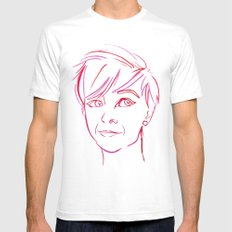 Pink Portrait White Mens Fitted Tee SMALL