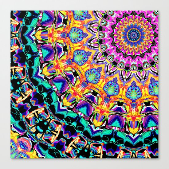 Ornate Spectral Abstract Canvas Print