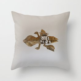 Coelacanth (brass) Throw Pillow