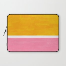 Pastel Yellow Pink Rothko Minimalist Mid Century Abstract Color Field Squares Laptop Sleeve