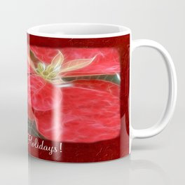 Mottled Red Poinsettia 1 Ephemeral Happy Holidays P5F1 Coffee Mug