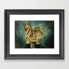 With one Stone. Framed Art Print