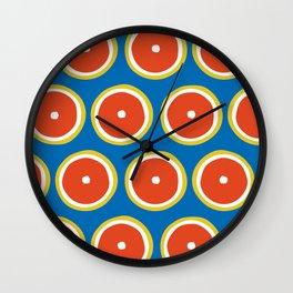 Blood orange pattern Wall Clock