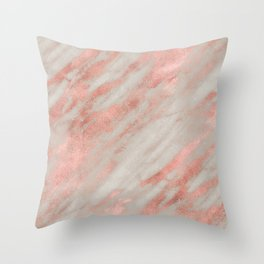 rosegold marble Throw Pillow
