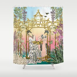 Geishas at the Gate Shower Curtain