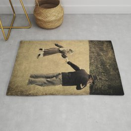 Union Soldier and Daughter Rug
