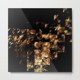 Bronze on Black Square #abstract #society6 #decor #geometry #minimalism Metal Print