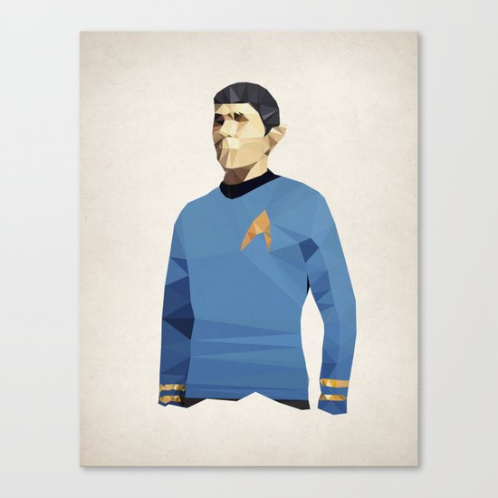 Polygon Heroes - Spock Canvas Print