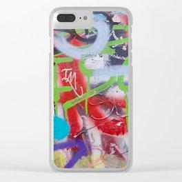 Urban Graffiti Clear iPhone Case