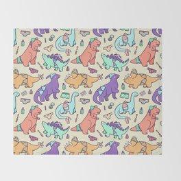 Dinosaur Panty Raid Throw Blanket