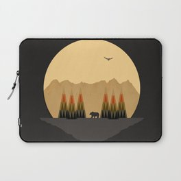 The Bear Versus the Mountain Laptop Sleeve