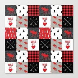Wild At Heart Lumberjack Quilt Pattern Canvas Print
