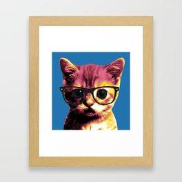Pop Art Cat Framed Art Print