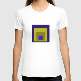 Blue and Yellow Squares T-shirt