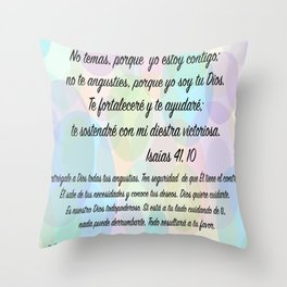 Burbujas - Isaías 41, 10 Throw Pillow