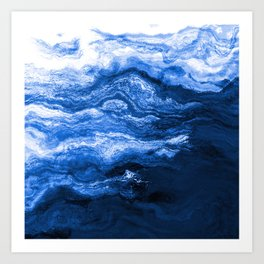 Seascape At the Cusp of Midnight Art Print