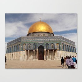 Dome of the Rock, Temple Mount, Jerusalem Canvas Print