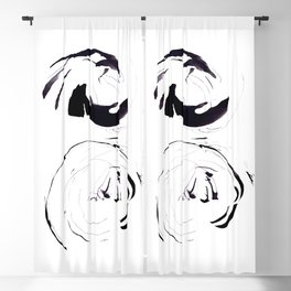 Abstract Illustration Black And White Circles Blackout Curtain