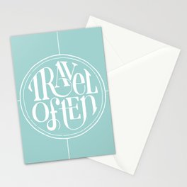 Travel with Teal Stationery Cards