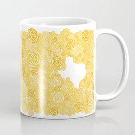 Texas Yellow Rose Outline Coffee Mug