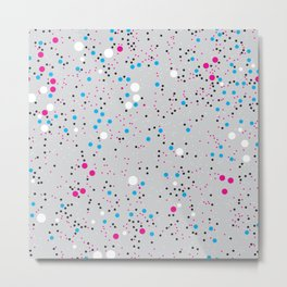 Chaotic circles pattern. Confetti #4 Metal Print