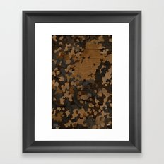 Modern Woodgrain Camouflage / Flecktarn Print Framed Art Print
