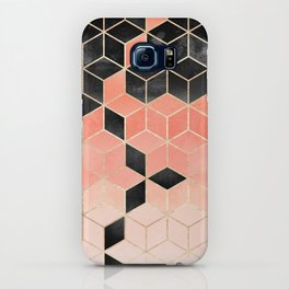 Black And Coral Cubes iPhone Case