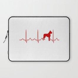 Boxer Dog Heartbeat Laptop Sleeve