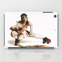 roller derby iPad Cases featuring Roller Derby Girl by FeatherStone