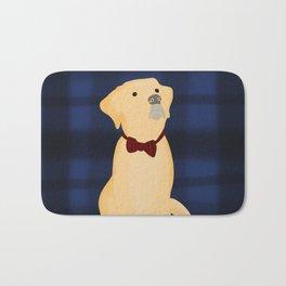 Best Friend Labrador Puppy In A Bow Tie Bath Mat