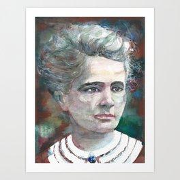MARIE CURIE - watercolor portrait.2 Art Print