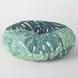 Monstera Melt (in Green) Floor Pillow