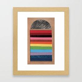 Rainbow Doorway - Collage 30 Framed Art Print