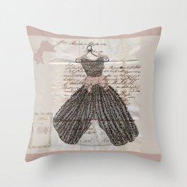 Blush Fancy Dress Throw Pillow