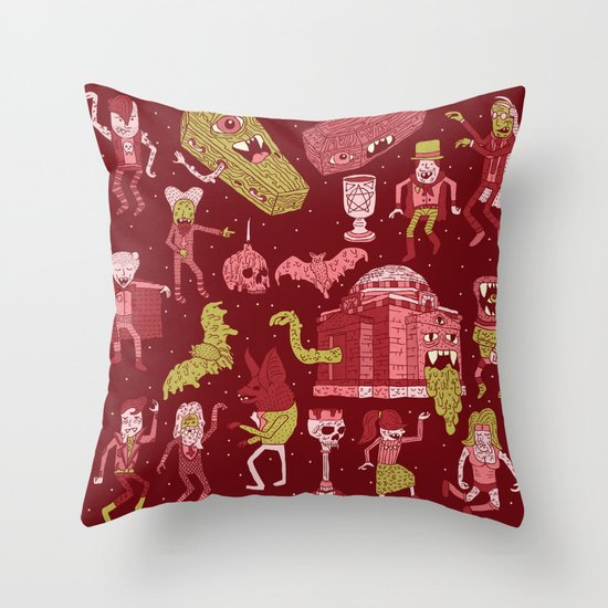Wow! Vampires! Throw Pillow