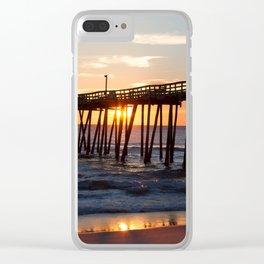 Rodanthe Pier Sunrise Clear iPhone Case