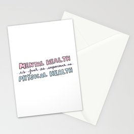 Mental Heath / Physical Health Stationery Cards