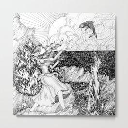 The Fish Girl Metal Print