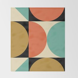 Mid Century Modern Geometric Abstract 235 Throw Blanket