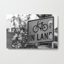 Bike Lane Metal Print