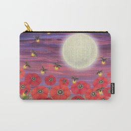 purple sky, fireflies, snails, and poppies Carry-All Pouch
