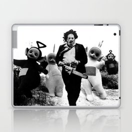 Leatherface with Teletubbies Laptop & iPad Skin