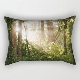 sunlit redwoods Rectangular Pillow
