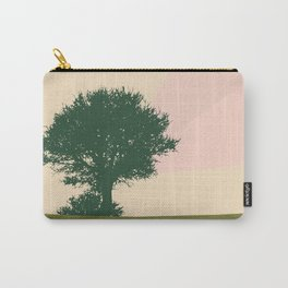 Trichromatic landscape Tree and a bird Carry-All Pouch