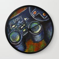 playstation Wall Clocks featuring Playstation  by Megan Bailey Gill